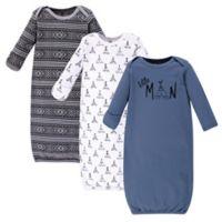 Yoga Sprout® Size 0-6M 3-Piece Little Man Gown Set