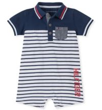 Tommy Hilfiger® Size 12M Polo Romper in Navy