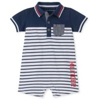 Tommy Hilfiger® Size 3-6M Polo Romper in Navy