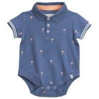 Sovereign Code® 6-9M Palm Tree Polo Onesie in Blue