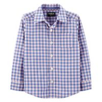 OshKosh B'gosh® Easter Checkered Shirt in Blue/Pink