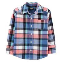 OshKosh B'gosh® Easter Plaid Shirt in Blue/Pink
