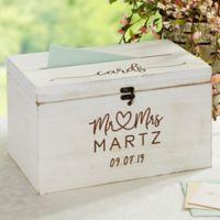 Infinite Love Personalized Wedding Wood Card Box