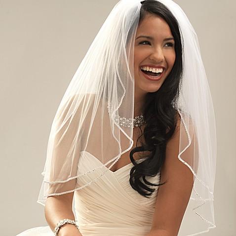 Swarovski Crystal Edge Fingertip Length 2 Layer Bridal