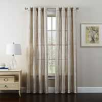 Tuscan 95-Inch Grommet Window Curtain Panel in Alabaster
