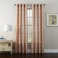 Tuscan 95-Inch Grommet Window Curtain Panel in Clay