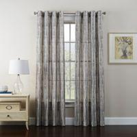 Tuscan 63-Inch Grommet Window Curtain Panel in Ebony