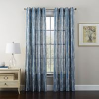 Tuscan 84-Inch Grommet Window Curtain Panel in Indigo