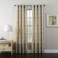 Tuscan 108-Inch Grommet Window Curtain Panel in Linen