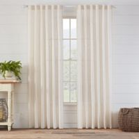 Carla 84-Inch Rod Pocket/Back Tab Sheer Window Curtain Panel in Natural
