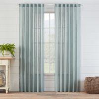 Carla 84-Inch Rod Pocket/Back Tab Sheer Window Curtain Panel in Spa