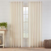 Ellan 108-Inch Rod Pocket/Back Tab Window Curtain Panel in Natural