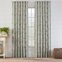 Avery Embroidered 63-Inch Rod Pocket/Back Tab Window Curtain Panel in Spa