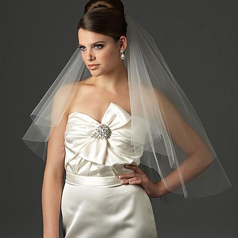 Cut Edge 2 Layer Elbow Bridal Veil Bed Bath Beyond