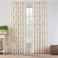 Avery Embroidered 108-Inch Rod Pocket/Back Tab Window Curtain Panel in Natural