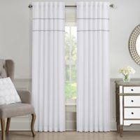 J. Queen New York™ Elsa 84-Inch Window Curtain Panel in White