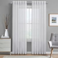 J. Queen New York™ Alberta Sheer 63-Inch Rod Pocket Window Curtain Panel in White