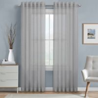J. Queen New York™ Alberta Sheer 63-Inch Rod Pocket Window Curtain Panel in Grey