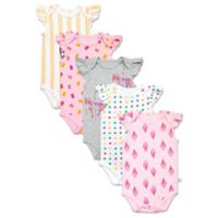 Rosie Pope Baby® Size 3-6M 5-Pack Short Sleeve Carnival Bodysuits