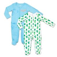 Rosie Pope Baby® Size 0-3M 2-Pack Road Trip Cactus Coveralls
