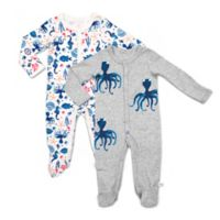 Rosie Pope Baby® Size 0-3M 2-Pack Octopus Nautical Coveralls