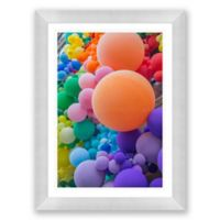 Circles in Square Spaces 29.5-Inch x 39.5-Inch Framed Wall Art