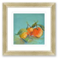 Oranges with Leaves 20.5-Inch Framed Print Wall Art
