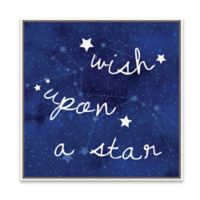 """Wish Upon a Star"" 18.88-Inch Square Framed Wall Art"