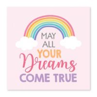 "Artissimo Designs ""May Dreams Come True"" Canvas Wall Art in Pink"