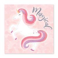 Artissimo Designs Magical Unicorn Multicolor Canvas Wall Art