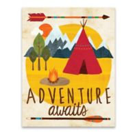 Lot26 Studio Adventure Awaits 14-Inch x 18-Inch Wrapped Canvas Framed Wall Art