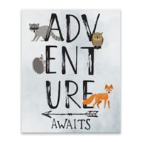 Lot26 Studio Kids Adventure Awaits 16-Inch x 20-Inch Wrapped Canvas Framed Wall Art