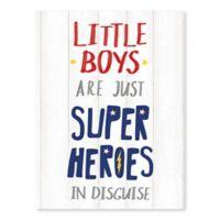 Artissimo Designs Lil Boys Superheros Multicolor Canvas Wall Art