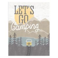 """""""Let's Go Camping"""" 16-Inch x 20-Inch Canvas Wall Art"""