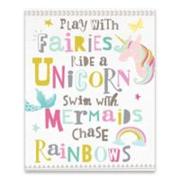 """You Play with Fairies"" 16-Inch x 20-Inch Canvas Wall Art"