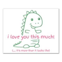 "Designs Direct ""I Love You This Much"" 10-Inch x 8-Inch Canvas Wall Art"