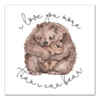 Designs Direct Bear Love 12-Inch Square Canvas Wall Art