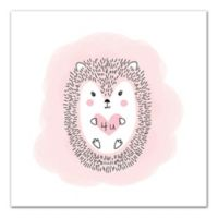 Designs Direct Hedgehog Love 16-Inch Square Canvas Wall Art
