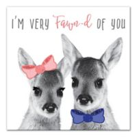 Designs Direct Fawn Love 12-Inch Canvas Wall Art