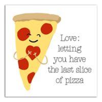 Designs Direct Last Slice of Pizza 12-Inch Square Canvas Wall Art
