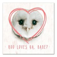 Designs Direct Owl Love 12-Inch Square Wrapped Canvas