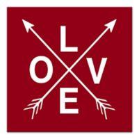 Designs Direct Love Arrows 20-Inch Square Wrapped Canvas