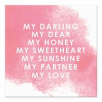 "Designs Direct ""My Love"" 6-Inch Square Tabletop Canvas Print"