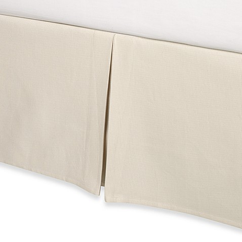 Real Simple® Linear Full Bed Skirt in Ivory