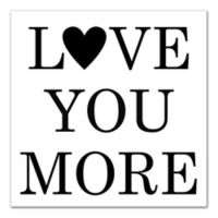 Designs Direct Love You More 12-Inch Square Wrapped Canvas