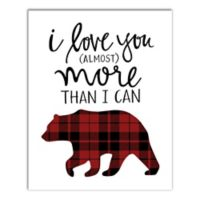 Designs Direct I Love You More Than I Can Bear 8-Inch x 10-Inch Wrapped Canvas
