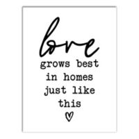 Designs Direct love grows best in homes like this 16-Inch x 12-Inch Canvas Wall Art