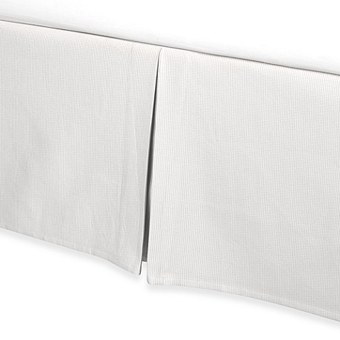 Real Simple® Linear King Bed Skirt in White