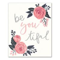 """Designs Direct """"Be You Tiful"""" 8-Inch x 10-Inch Canvas Wall Art"""