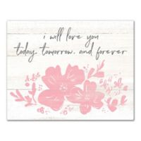 Designs Direct Today, Tomorrow & Forever 11-Inch x 14-Inch Canvas Wall Art
